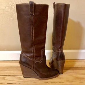 Frye Wedge Boots